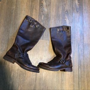 Frye dark brown riding boots 6.5